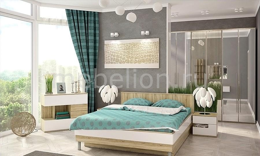Гарнитур для спальни Ирма 18 дуб сонома/белый глянец
