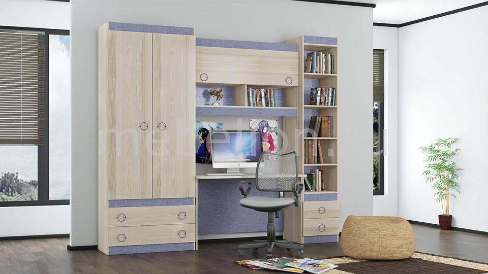 Набор для детской Мебель Трия Индиго ГН-145.023 шкаф платяной угловой мебель трия шкаф платяной индиго пм 145 12 ясень коимбра навигатор
