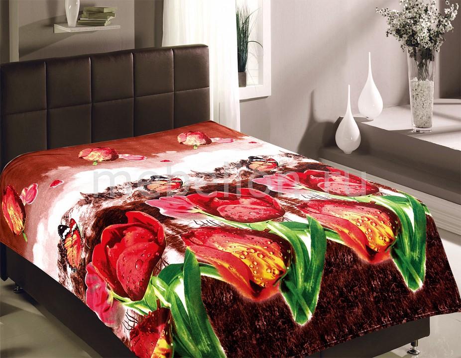 Плед TexRepublic (150х200 см) Тюльпаны плед из микрофибры минни маус shopping цвет красный 150 см х 200 см