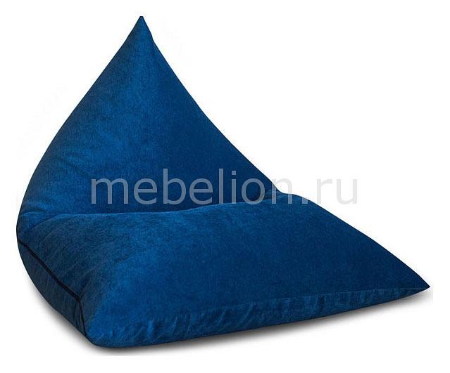 Кресло Пирамида Синий Микровельвет