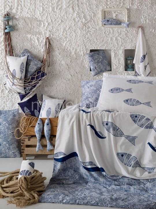 Фото - Комплект полутораспальный HOBBY Home Collection BLUES mercury home textiles хлопок комплект из 4 х предметов из хлопка комплект постельных принадлежностей блузка простые чеки double 1 8m bed blues lif