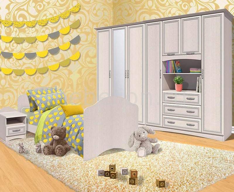 Гарнитур для детской Сильва Прованс Шери шкаф комбинированный прованс нм 009 23