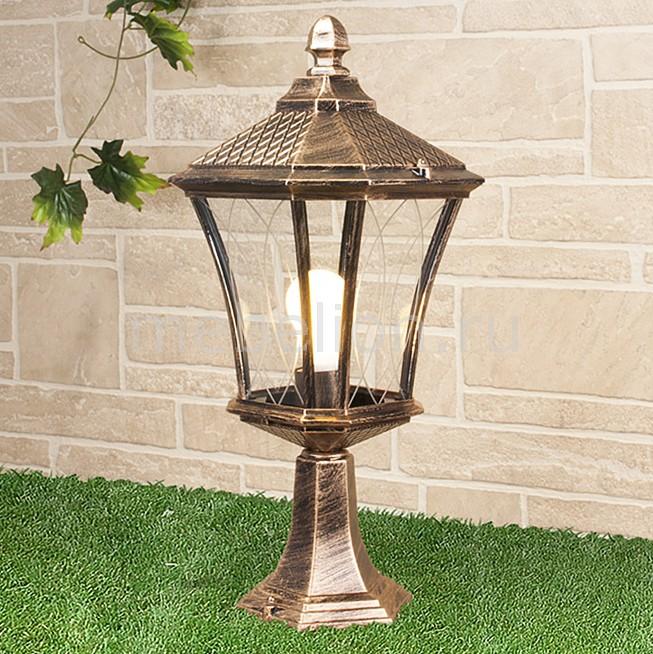 Наземный низкий светильник Elektrostandard Virgo S черное золото (арт. GLXT-1450S) садовый светильник elektrostandard taurus s малахит арт glxt 1458s
