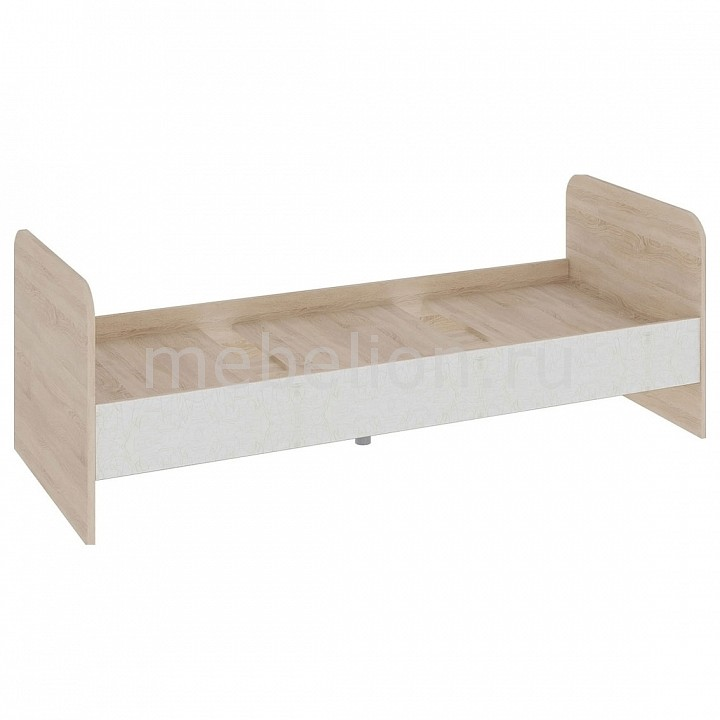 Кровать Атлас ПМ-186.21 дуб сонома/хаотичные линии  пуфик под заказ