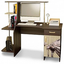 Стол компьютерный Мебель Трия Студент-Стиль (М) венге цаво/дуб молочный с рисунком