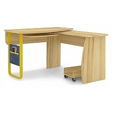 Стол компьютерный угловой Джинс 507.080 сантана/джинс/желтый бриллиант