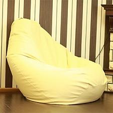 Кресло-мешок Кремовая кожа III