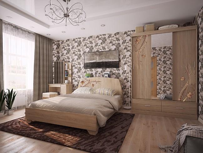 Гарнитур для спальни Виктория-1  пеленальный комод мебеком