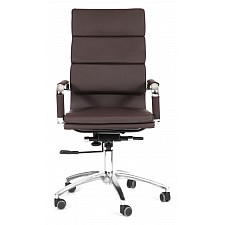 Кресло компьютерное Chairman 750 коричневый/хром