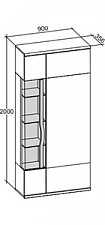 Шкаф комбинированный Марта 635.030 белый/дезира эш