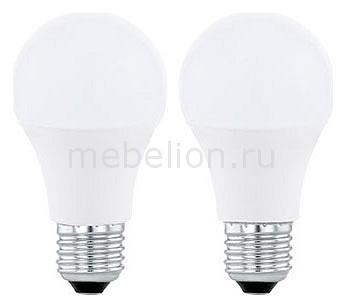 Комплект из 2 ламп светодиодных Eglo A60 Valuepack E27 60Вт 4000K 11544 комплект из 2 ламп светодиодных eglo g9 3вт 220в 4000k 11675