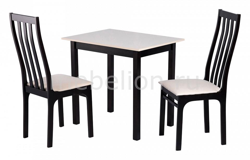 Набор обеденный Мебвилл Франц 2 раздвижной большой стеклянный обеденный стол кубика нагано 2 стекло стекло темно коричневое венге