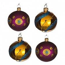 Набор из 4 елочных шаров (6 см) Фейерверк 860-530