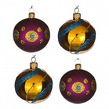 Набор елочных шаров АРТИ-М Набор из 4 елочных шаров (6 см) Фейерверк 860-530