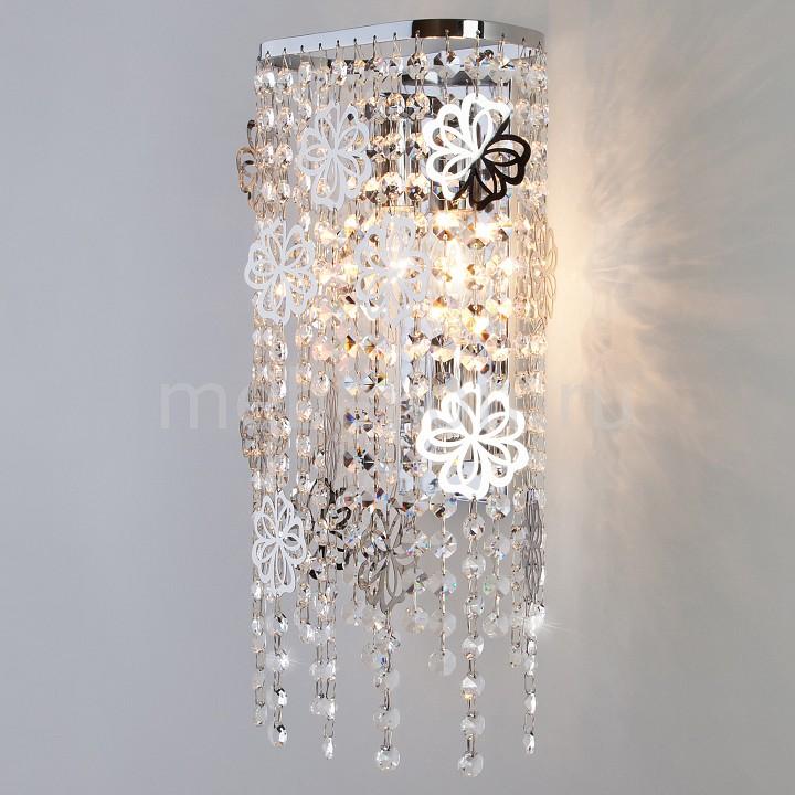 Накладной светильник Eurosvet 10083/2 хром/прозрачный хрусталь Strotskis