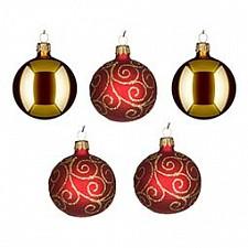 Набор из 5 елочных шаров (6 см) Лоза 860-516