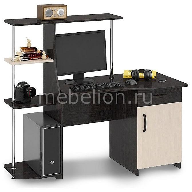 Стол компьютерный Мебель Трия Студент-Стиль (М) венге цаво/дуб молочный стол компьютерный мебель трия профи м венге цаво дуб молочный с рисунком