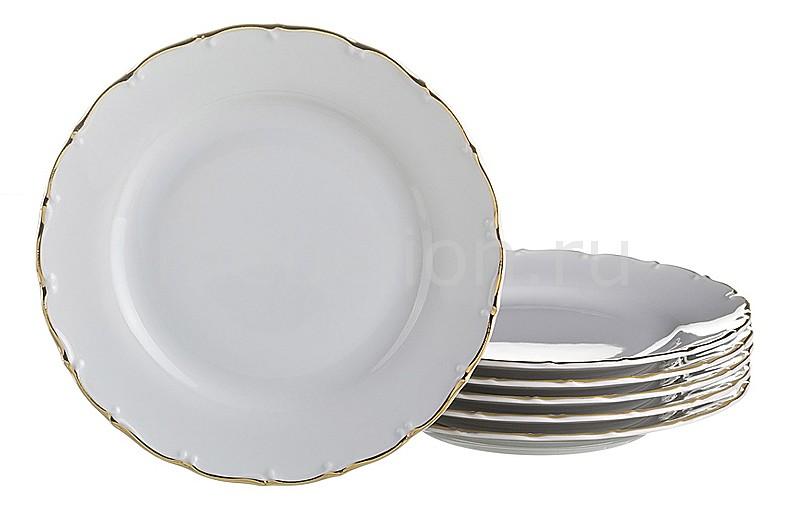 Набор тарелок плоских АРТИ-М Набор из 6 тарелок плоских Офелия 662 655-101 шэн shengwei 4 жильный телефонная линия для телефонных плоских нитей 10 м меди белый рафинированный 6p4c rj11 кабель tc 1100b