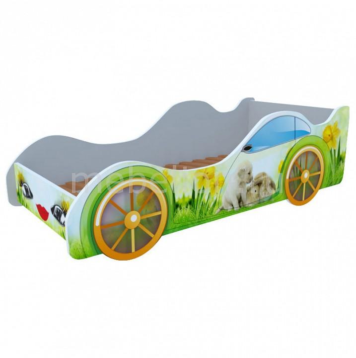 Кровать-машина Кролики и собачка M014
