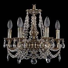 Подвесная люстра Bohemia Ivele Crystal 1707/6/125/C/GB 1707
