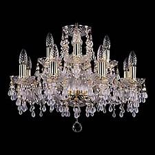 Подвесная люстра Bohemia Ivele Crystal 1410/8_4/195/G/0300 1410
