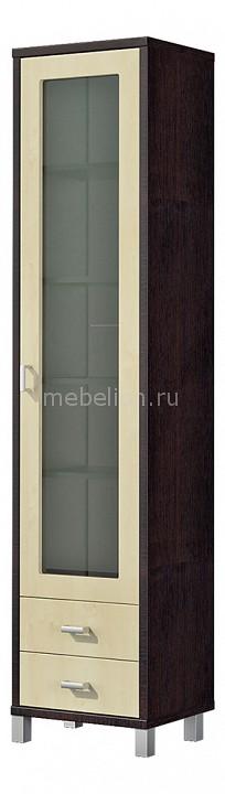 Шкаф-витрина Домино ВК-04-02 береза/венге mebelion.ru 6906.000