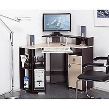 Олимп-мебель Стол компьютерный Костер-7 универсальный венге - клен светлый