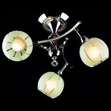 Светильник на штанге 3353-3457 3353/3 хром/зеленый