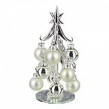Ель новогодняя с елочными шарами (16 см) ART 594-091