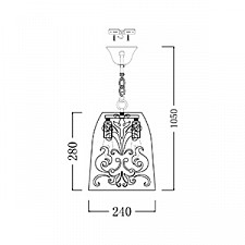 Подвесной светильник Maytoni ARM610-22-R Elegant 51