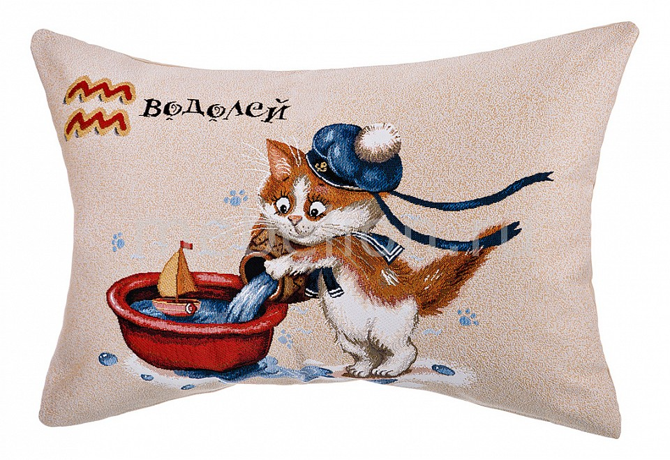 цена Подушка декоративная АРТИ-М (63x45 см) Котята водолей 850-901-70 онлайн в 2017 году