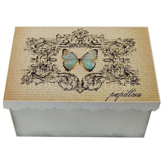 Шкатулка декоративная (26х18х13 см) Бабочка 1826-10-1