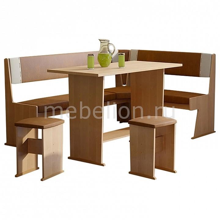 Набор кухонный Мебель Трия Уголок кухонный Амиго ольха/коричневый/бежевый уголок кухонный мебель трия норд