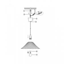 Подвесной светильник Globo 15135 Cherry