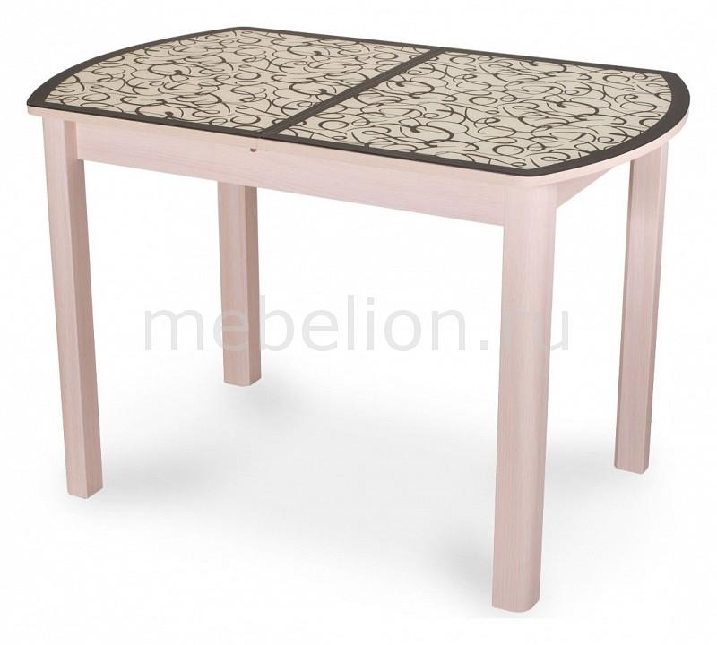 Стол обеденный Домотека Чинзано ПО со стеклом