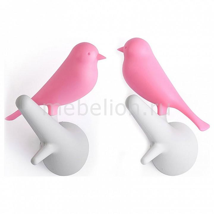 Купить Крючок декоративный, Набор из 2 крючков декоративных Qualy QL10067-WH-PK, Umbra, Россия, белый, розовый, полимер