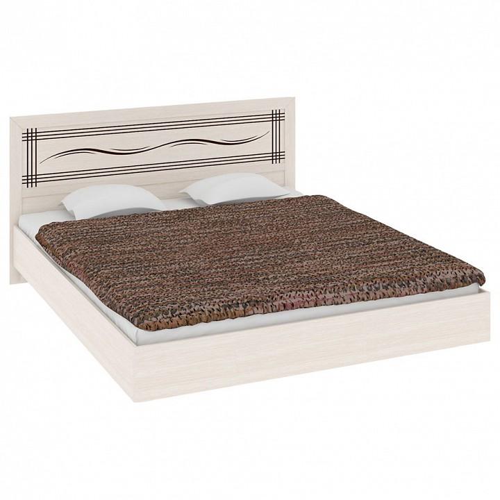 Кровать двуспальная Токио СМ-131.12.003 дуб белфорт/дуб белфорт/дуб белфорт с рисунком Линии