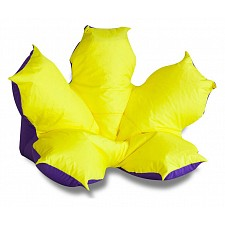 Кресло-мешок Цветок желто-фиолетовый