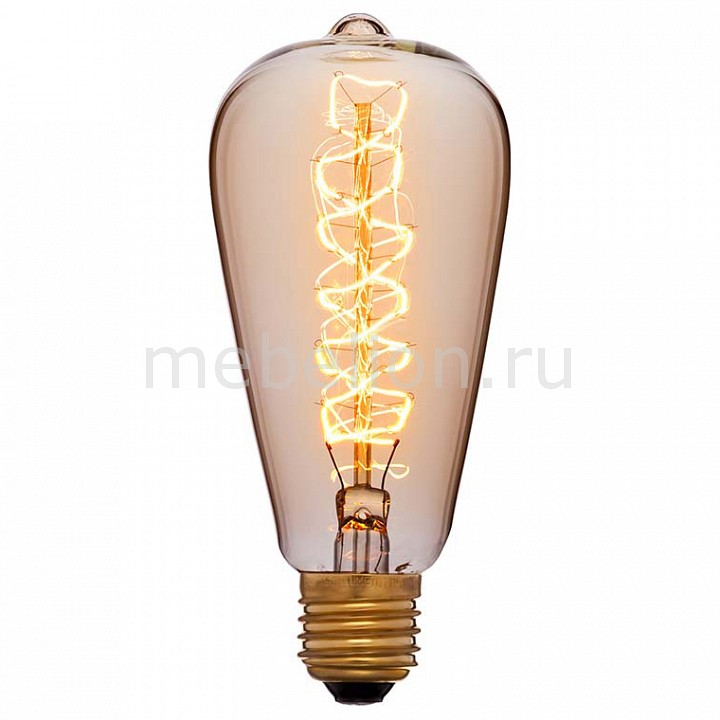 Лампа накаливания Sun Lumen ST64 E27 240В 60Вт 2200K 052-269