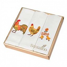 Набор из 3 салфеток Куриная семейка