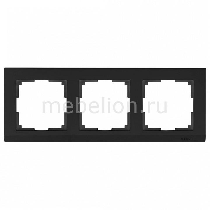 Рамка на 3 поста Werkel Stark WL04-Frame-03-black stark s103 black