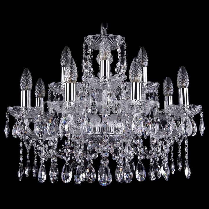 Подвесная люстра Bohemia Ivele Crystal 1413/8+4/200/Ni 1413