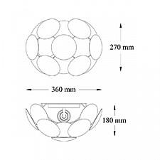 Накладной светильник Maytoni MOD503-01-W Space