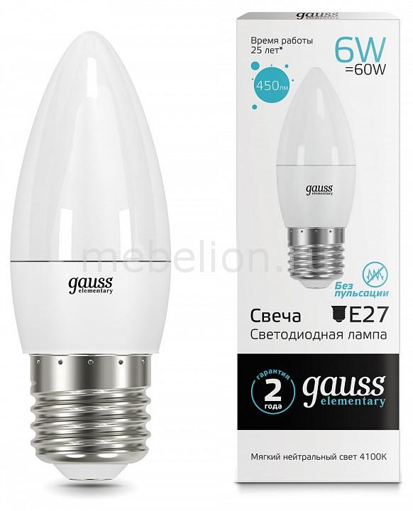 Лампа светодиодная Gauss 332 E27 180-240В 6Вт 4100K 33226