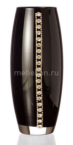 Купить Ваза настольная (26 см) Флора 802-138305, АРТИ-М, Россия, черный, стекло