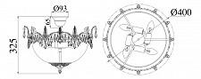 Люстра на штанге Maytoni DIA585-PT40-WG Diamant 7