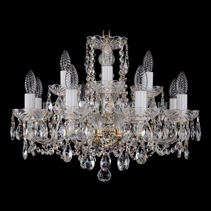 Подвесная люстра Bohemia Ivele Crystal 1402/8_4/195/G 1402