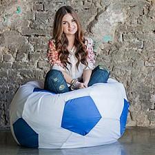 Кресло-мешок Бело-голубой