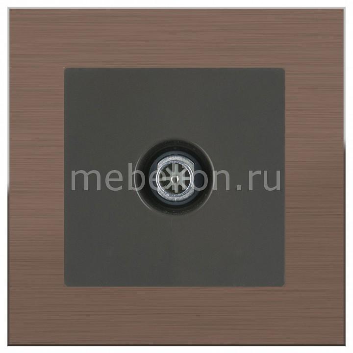 ТВ-розетки проходные Werkel Aluminium (Серо-коричневый) WL07-SW-3G+WL07-TV-2W цена