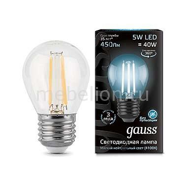 Лампа светодиодная Gauss 1058 E27 185-265В 5Вт 4100K 105802205-D